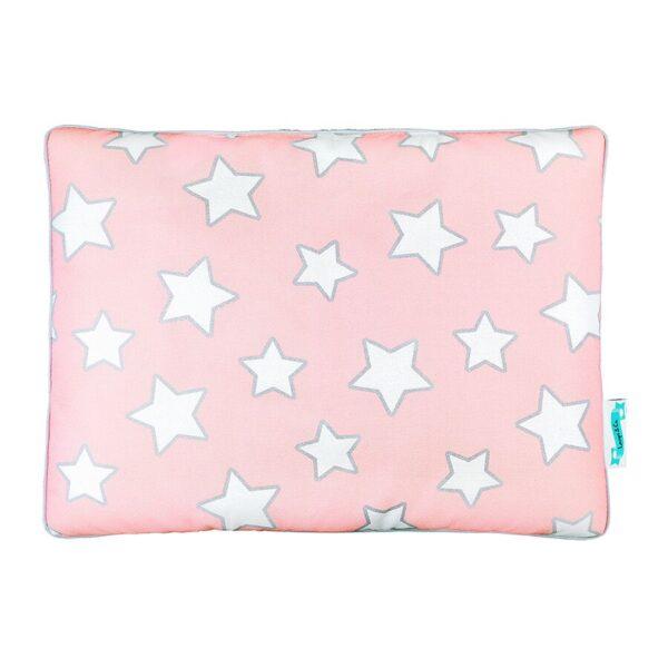 Poduszeczka dla dzieci różowa w gwiazdki