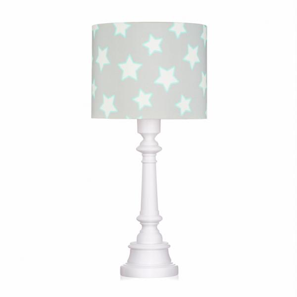 Szara lampa stojąca w gwiazdki