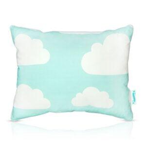 Poduszka dla dzieci w chmurki miętowa