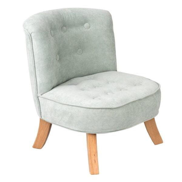 Brudna Mieta Velvet Dusty Mint  2  600x600 - Fotel dla dziecka brudny miętowy