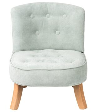 Fotel dla dziecka brudny miętowy