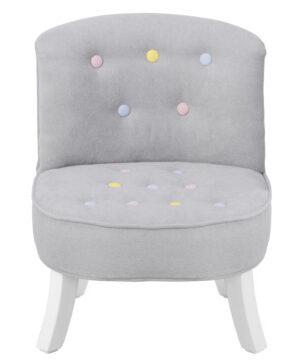 Fotel dziecięcy z kolorowymi guziczkami