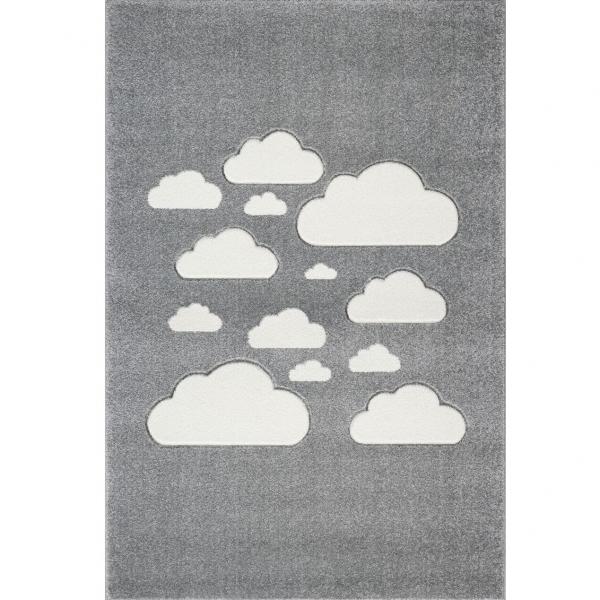 Dywan dla dzieci w szare chmurki