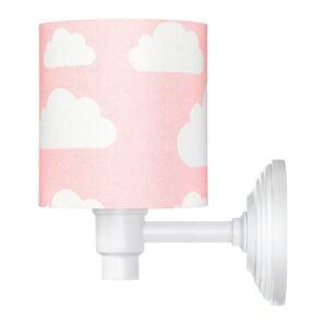 Kinkiet w chmurki różowy