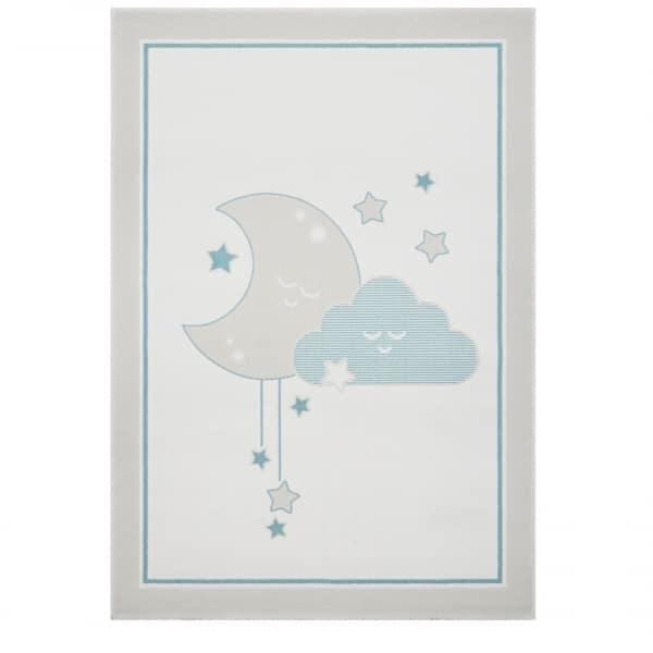 Dywan dziecięcy księżyc i chmurka miętowy