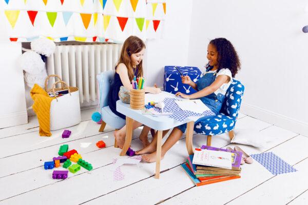 IMG 6630 600x400 - Niebieski fotel dla dziecka len