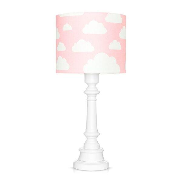 Lampa stojąca w chmurki różowa