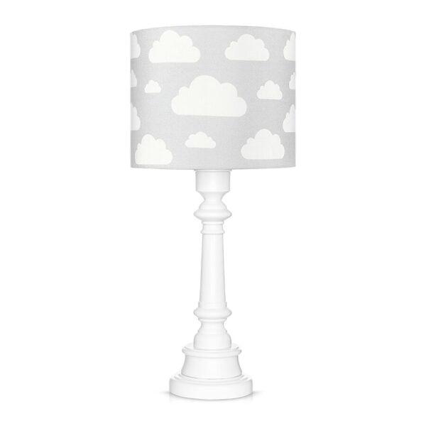 Lampa stojąca w chmurki szara