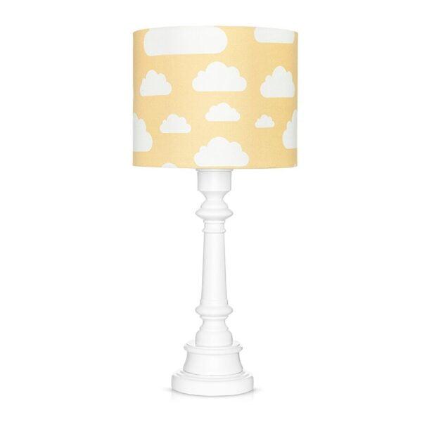 Lampa stojąca w chmurki żółta