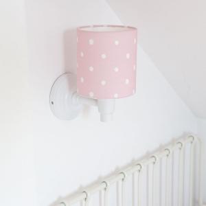 K7GdRQaA 300x300 - Różowy kinkiet w kropki do pokoju dziecka
