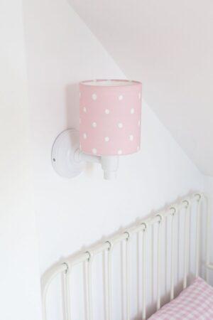 K7GdRQaA 300x450 - Różowy kinkiet w kropki do pokoju dziecka