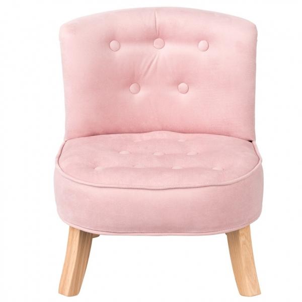 Fotel dziecięcy karmelowy róż