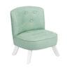 Miętowy fotel dla dziecka len
