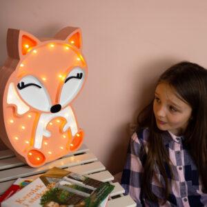 Lampka lisek do pokoju dziecka