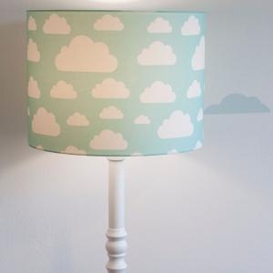 Lampa podłogowa w chmurki szara