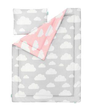 MJzCYGRQ 300x360 - Pościel dla dzieci chmurki różowy i szary 100x135