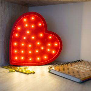 Lampka w kształcie serca