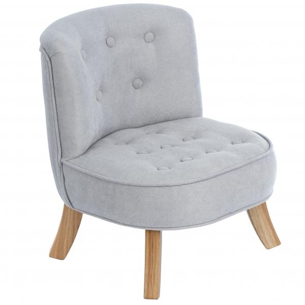Fotel dla dzieci szary