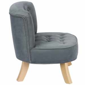 Szary welur Velvet Grey  2  300x300 - Fotel dla dzieci szary welur