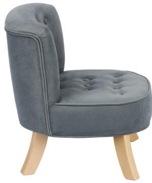 Szary welur Velvet Grey  2  300x360 - Fotel dla dzieci szary welur