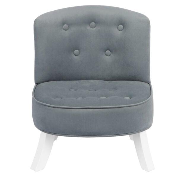 Fotel dla dzieci szary welur