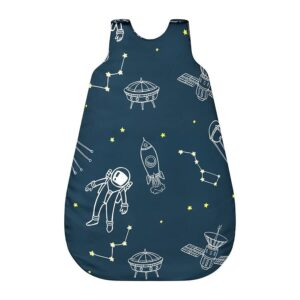 Śpiworek dla niemowląt ciemny kosmos