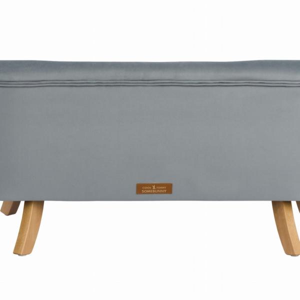 Tyl sofa szary krotkie drewniane 600x600 - Sofa dla dzieci szary welur