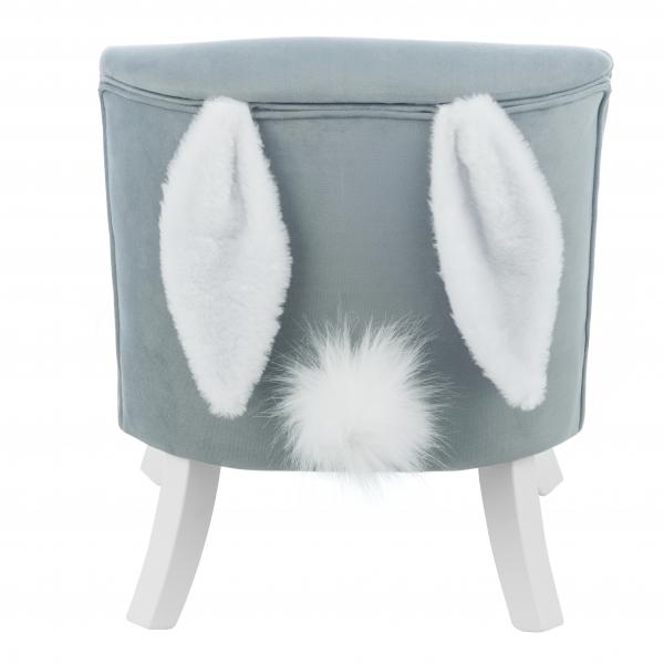 Uszak Bunny Grey  1  600x600 - Fotel dla dziecka z uszami króliczka