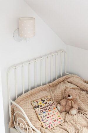VRtcuHEg 300x450 - Beżowy kinkiet w kropki do pokoju dziecka
