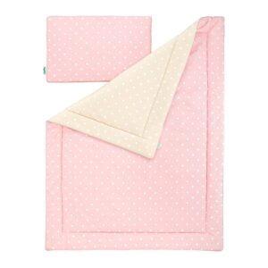 Pościel dla dzieci różowa w kropki