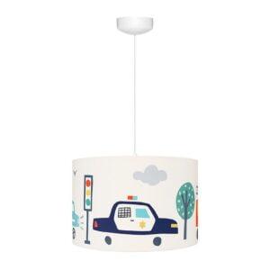 Lampa wisząca do pokoju dziecka autka