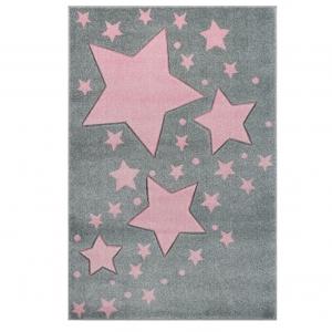 Dywan dziecięcy w różowe gwiazdki