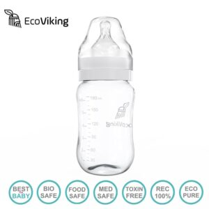 eco viking antykolkowa butelka szklana szeroka dla niemowlat 180 ml 2 300x300 - Szklana butelka antykolkowa 180 ml