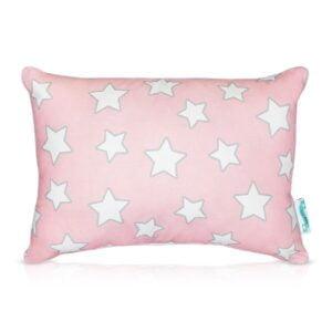 Poduszka ozdobna w gwiazdki różowa