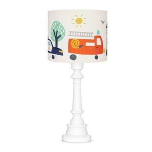 Lampa stojąca do pokoju dziecka autka