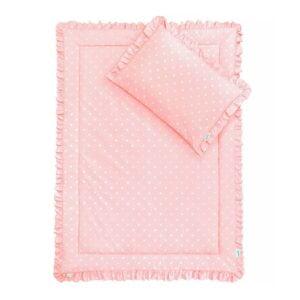Pościel dla dzieci różowa z falbanką