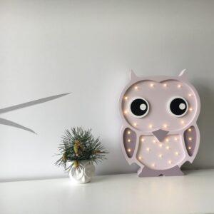 Lampka sowa do pokoju dziecka