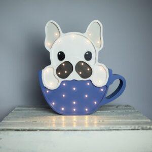 Lampa dla dzieci pies w filiżance