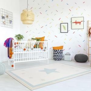 Dywan do pokoju dziecka z gwiazdą miętowy