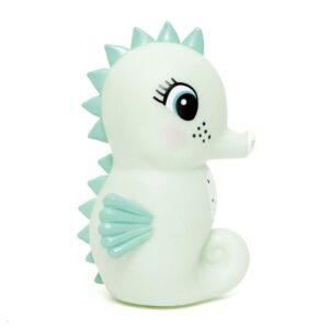 Lampka dziecięca konik morski miętowy