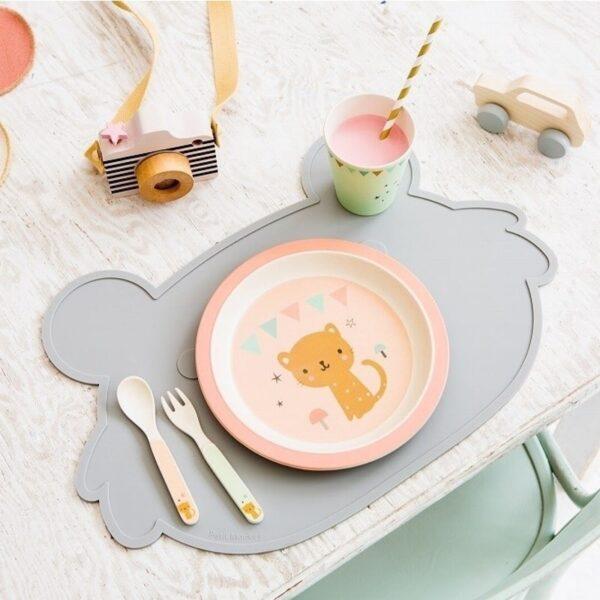 Podkładka pod talerz dla dziecka ecru