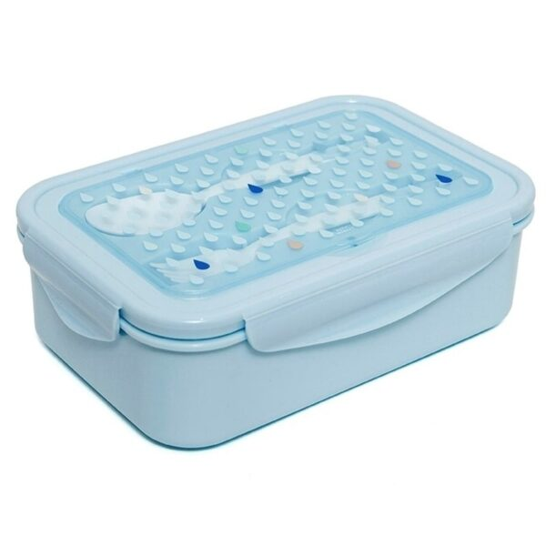 Śniadaniówka ze sztućcami dla dziecka niebieska
