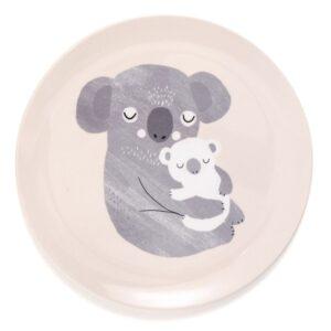 Płaski talerz dla dzieci koala