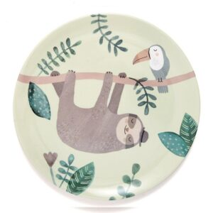 Płaski talerz dla dzieci leniwiec