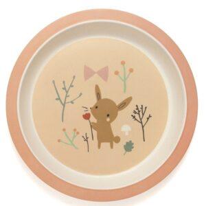 Talerzyk dla dzieci bambusowy królik