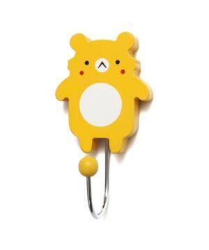 Wieszak dziecięcy miś koala żółty
