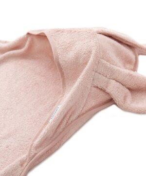 Ręcznik dla dzieci z kapturkiem różowy