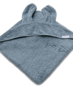 Ręcznik z uszami dla dzieci niebieski