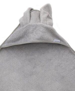 Ręcznik dla dzieci z kapturkiem szary