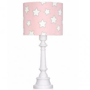 Różowa lampa stojąca w gwiazdki